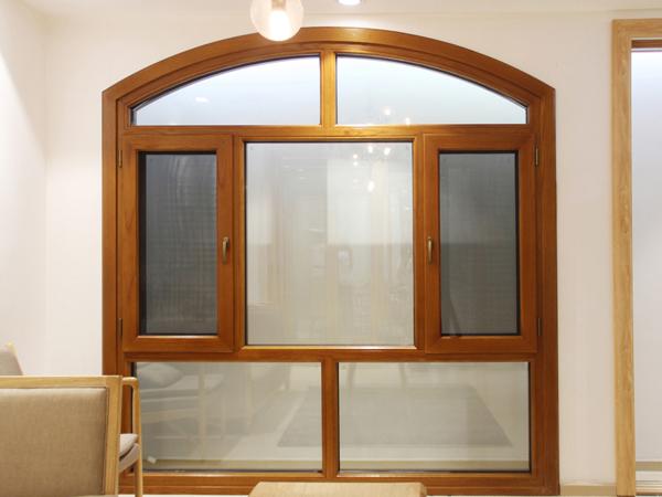 103铝木钢纱一体铝木复合窗